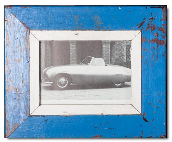 Bilderrahmen aus recyceltem Holz für Bildgröße 14,8 x 21 cm aus Kapstadt