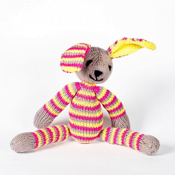 Baumwoll-Hase Gelb & Pink