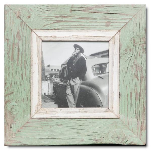 Quadrat Bilderrahmen aus recyceltem Holz für Fotogröße 14,8 x 14,8