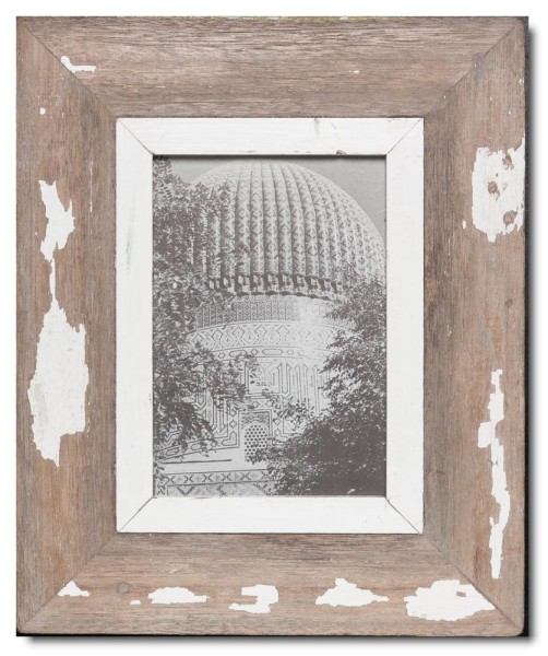 Bilderrahmen aus recyceltem Holz für Bildformat 14,8 x 21 cm aus Südafrika