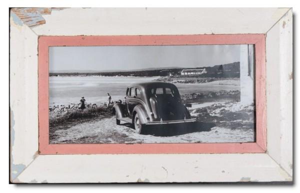 Panorama Bilderrahmen aus recyceltem Holz für Bildformat DIN A3 Panorama aus Südafrika