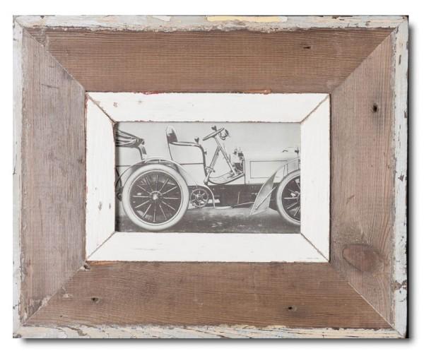 Bilderrahmen aus recyceltem Holz für Bildgröße 10,5 x 14,8 cm