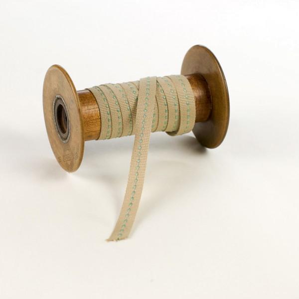 10mm Ripsband mit Mittelstich