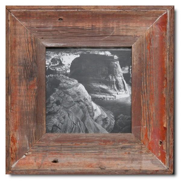 Altholz Bilderrahmen Quadrat für Bildformat DIN A5 Quadrat