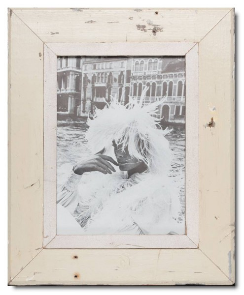 Bilderrahmen aus recyceltem Holz für Fotogröße 21 x 29,7 cm