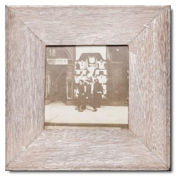 Quadrat Bilderrahmen aus recyceltem Holz für Fotogröße DIN A5 Quadrat