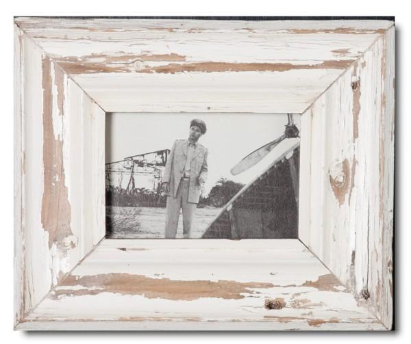 Bilderrahmen aus recyceltem Holz für Fotoformat 10,5 x 14,8 cm aus Kapstadt