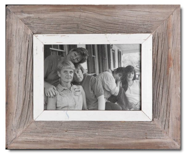 Bilderrahmen aus recyceltem Holz für Fotoformat 14,8 x 21 cm