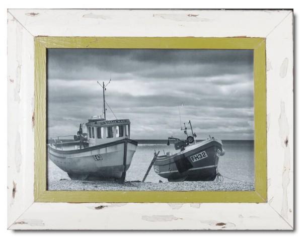 Bilderrahmen aus recyceltem Holz für Fotogröße 29,7 x 42 cm aus Südafrika