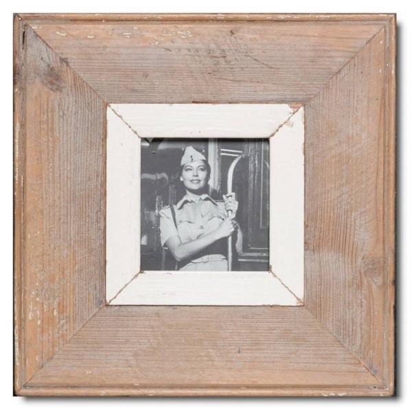 Quadrat Bilderrahmen aus recyceltem Holz für Bildformat DIN A6 Quadrat aus Kapstadt