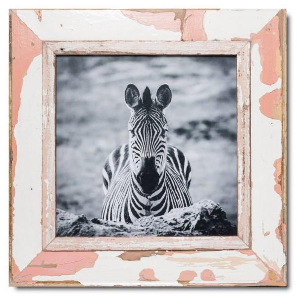 Quadrat Bilderrahmen aus recyceltem Holz für Bildgröße DIN A3 Quadrat aus Kapstadt