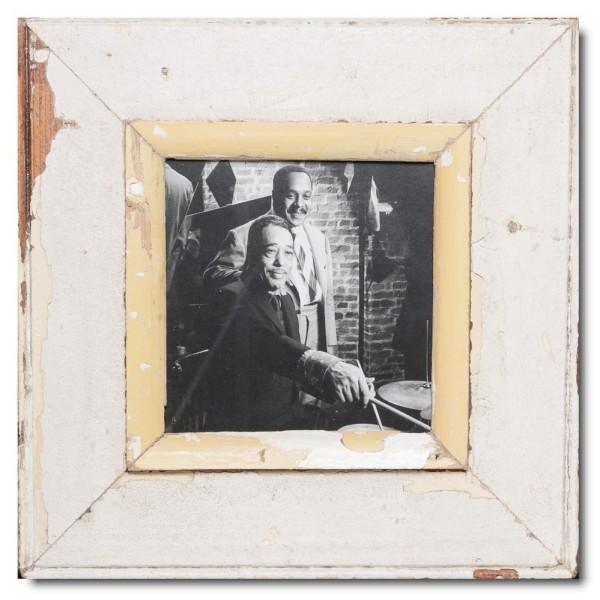 Quadrat Bilderrahmen aus recyceltem Holz für Fotoformat 14,8 x 14,8 aus Südafrika