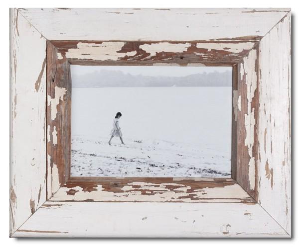 Breiter Bilderrahmen aus recyceltem Holz für Fotoformat DIN A4