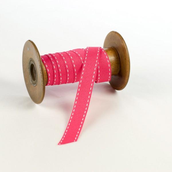 15mm Geschenkband aus Textil mit Sattelstich