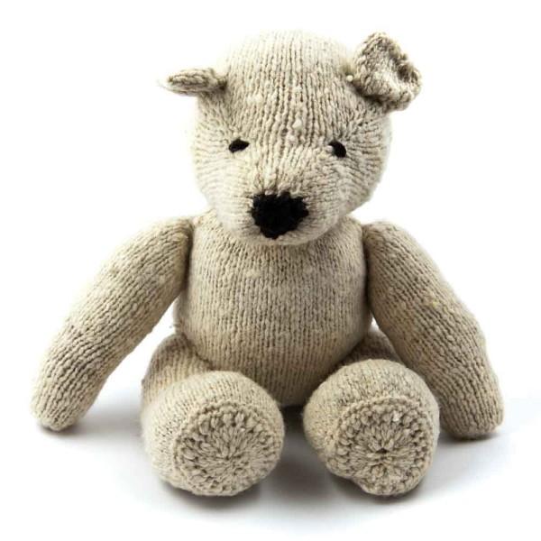 Creme Woll-Teddybär