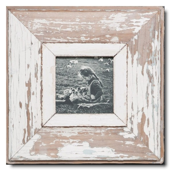 Altholz Bilderrahmen Quadrat für Bildformat DIN A6 Quadrat