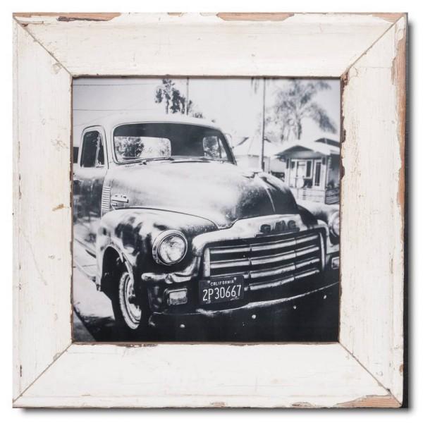 Quadrat Bilderrahmen aus recyceltem Holz für Fotoformat DIN A3 Quadrat aus Kapstadt