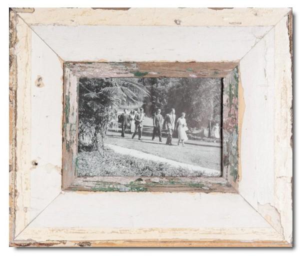 Breiter Bilderrahmen aus recyceltem Holz für Fotogröße 21 x 14,8 cm