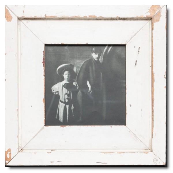 Quadrat Bilderrahmen aus recyceltem Holz für Fotogröße DIN A5 Quadrat aus Südafrika