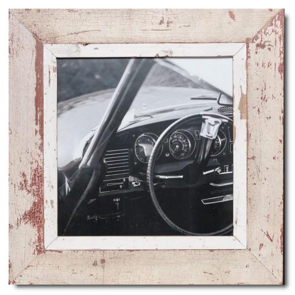 Quadrat Bilderrahmen aus recyceltem Holz für Fotoformat 29,7 x 29,7