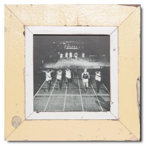 Quadrat Bilderrahmen aus recyceltem Holz für Fotogröße DIN A4 Quadrat