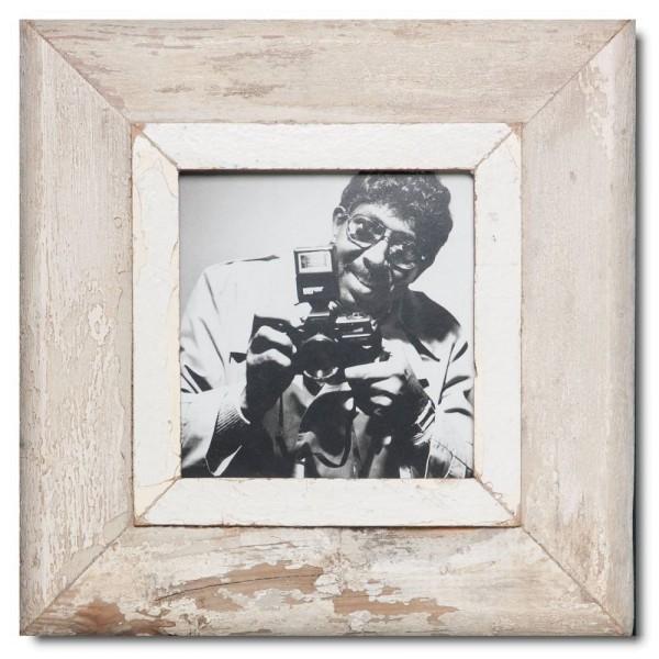 Quadrat Bilderrahmen aus recyceltem Holz für Fotoformat 14,8 x 14,8