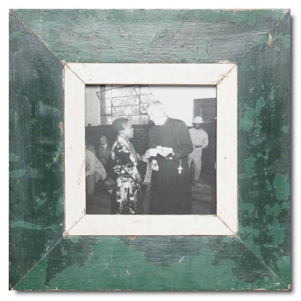 Quadrat Bilderrahmen aus recyceltem Holz für Bildgröße DIN A5 Quadrat