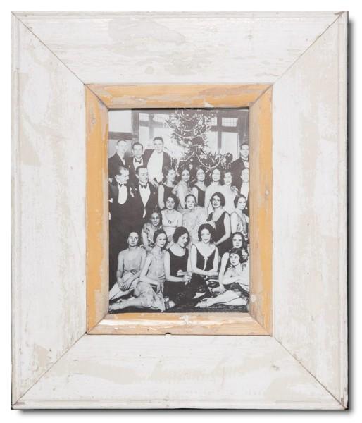 Breiter Bilderrahmen aus recyceltem Holz für Bildformat DIN A5