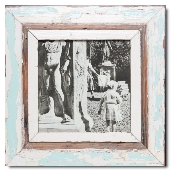 Quadrat Bilderrahmen aus recyceltem Holz für Bildformat DIN A4 Quadrat