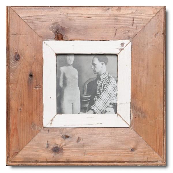Quadrat Bilderrahmen aus recyceltem Holz für Fotoformat DIN A6 Quadrat aus Kapstadt