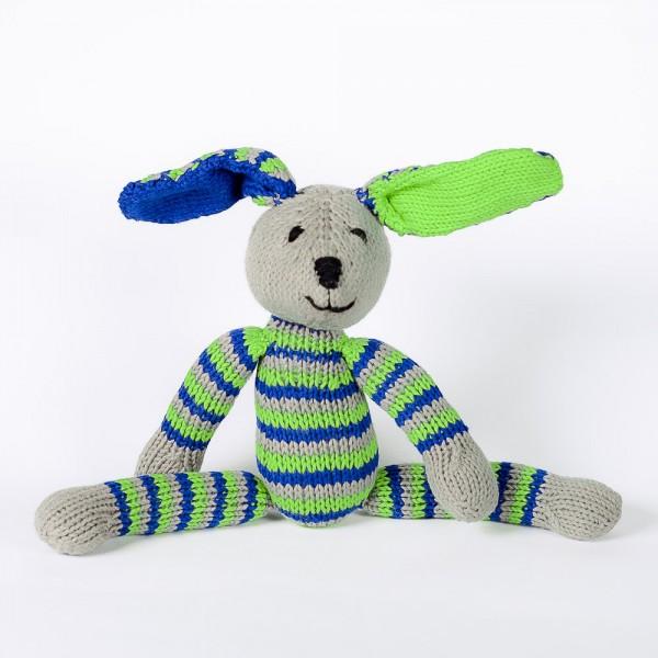 Baumwoll-Hase Blau & Grün