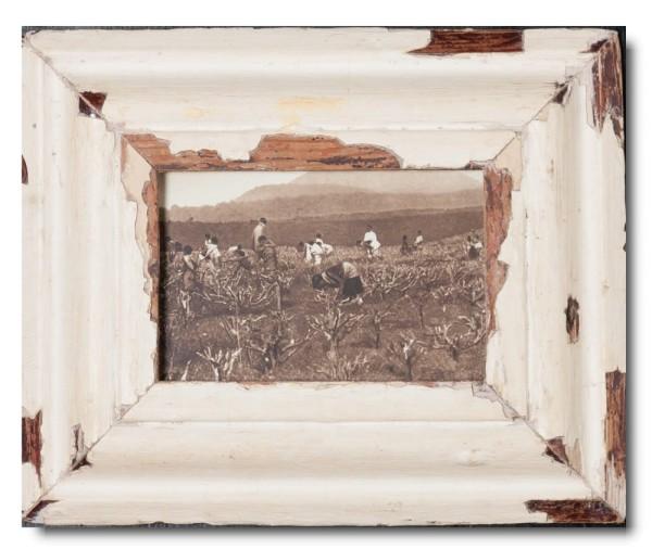 Bilderrahmen aus recyceltem Holz für Fotoformat 10,5 x 14,8 cm