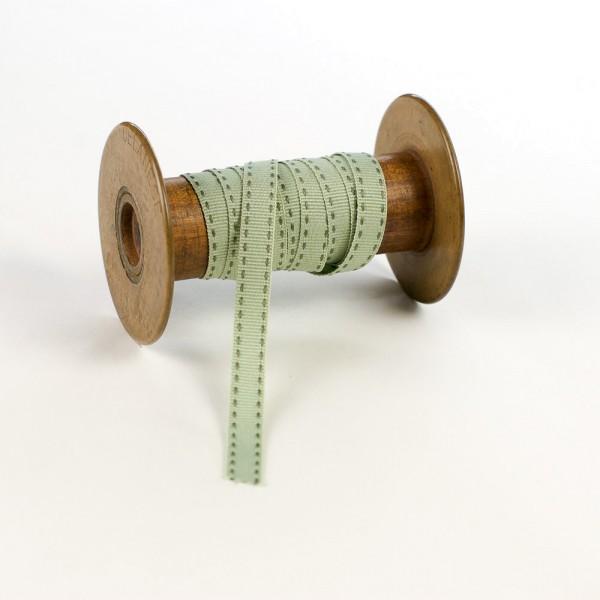 10mm Textil-Geschenkband mit Sattelstich