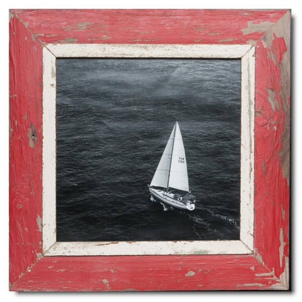Quadrat Bilderrahmen aus recyceltem Holz für Fotogröße 29,7 x 29,7