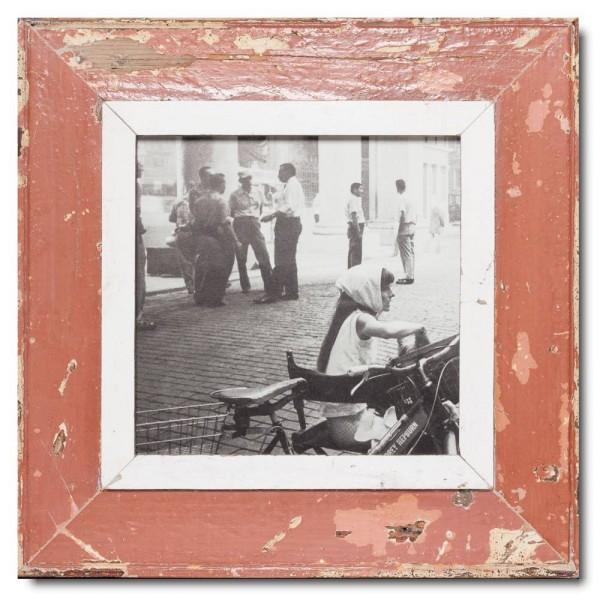Quadratischer Vintage Bilderrahmen für Fotogröße 21 x 21