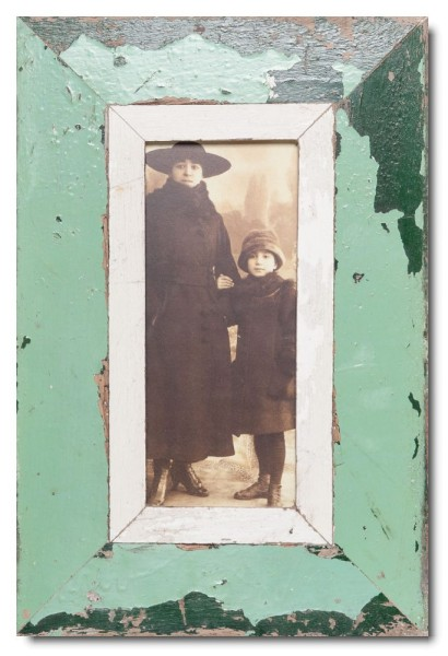 Panorama Bilderrahmen aus recyceltem Holz für Fotoformat 21 x 10,5 cm