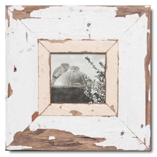 Quadrat Bilderrahmen aus recyceltem Holz für Bildformat DIN A6 Quadrat