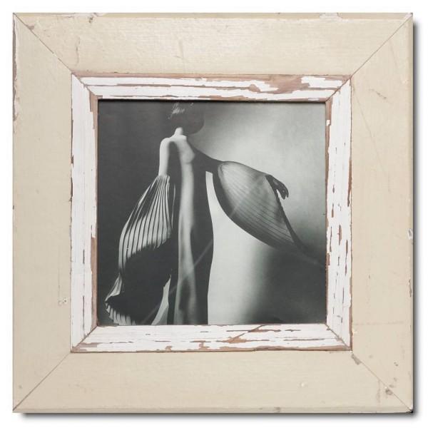 Quadrat Bilderrahmen aus recyceltem Holz für Bildgröße 21 x 21 aus Südafrika