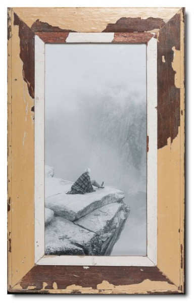 Panorama Bilderrahmen aus recyceltem Holz für Fotogröße DIN A3 Panorama aus Kapstadt