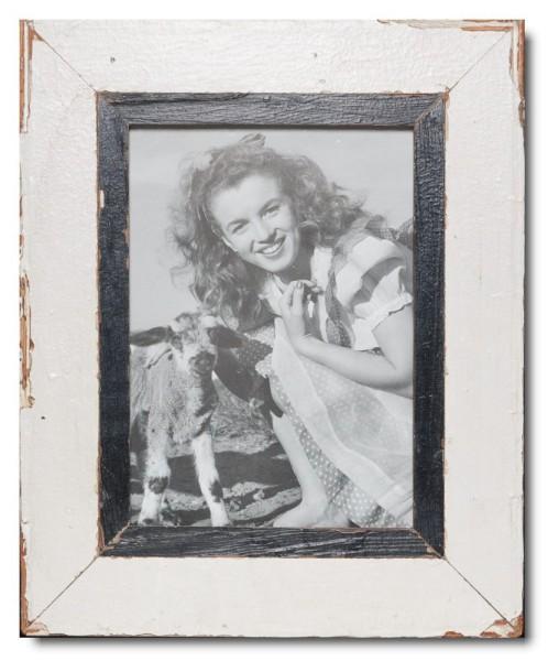 Bilderrahmen aus recyceltem Holz für Fotoformat 21 x 29,7 cm