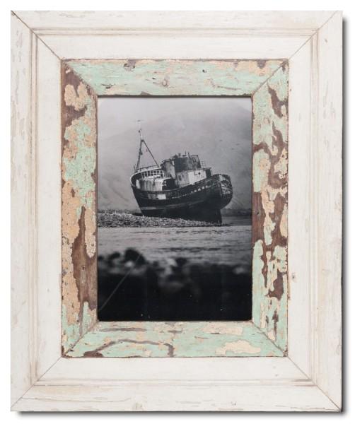 Breiter Bilderrahmen aus recyceltem Holz für Fotogröße 29,7 x 21 cm
