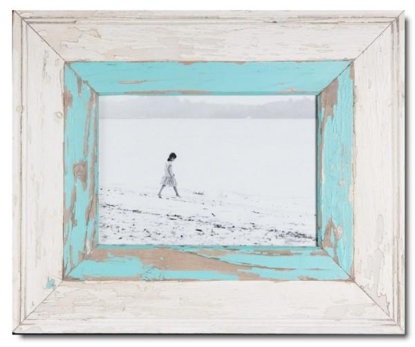 Breiter Bilderrahmen aus recyceltem Holz für Fotogröße 29,7 x 21 cm aus Südafrika