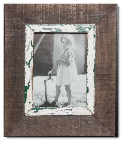 Bilderrahmen aus recyceltem Holz für Bildgröße 14,8 x 21 cm