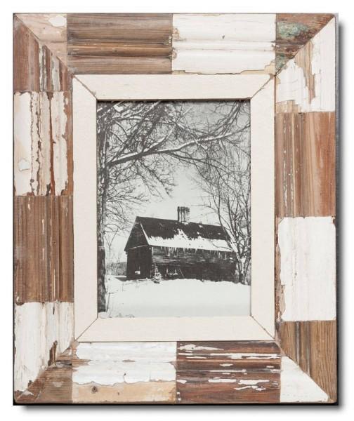 Mosaik Altholz Bilderrahmen für Bildformat 21 x 14,8 cm aus Kapstadt