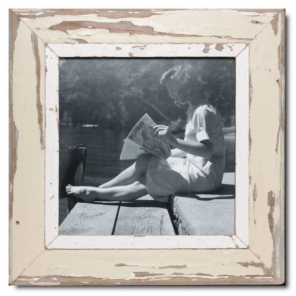 Quadrat Bilderrahmen aus recyceltem Holz für Bildgröße 29,7 x 29,7