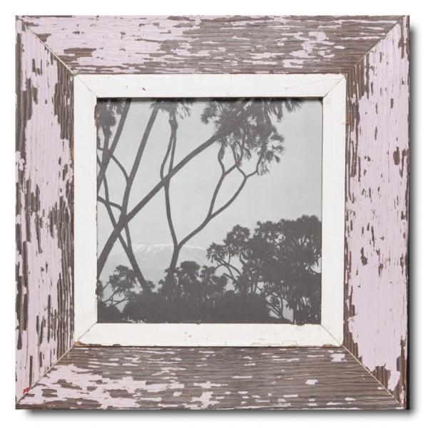 Quadrat Bilderrahmen aus recyceltem Holz für Bildformat 21 x 21