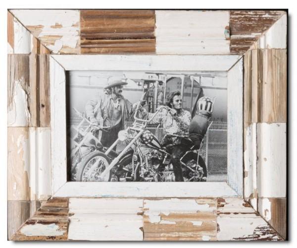 Mosaik Bilderrahmen aus recyceltem Holz aus Kapstadt