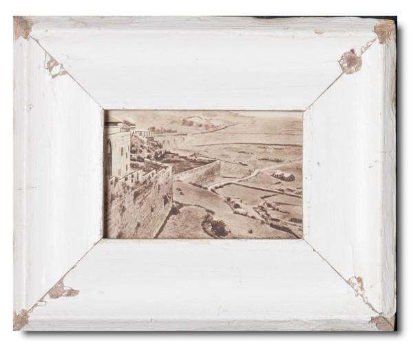 Bilderrahmen aus recyceltem Holz für Bildgröße DIN A6