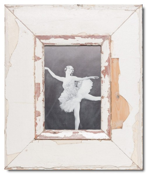 Breiter Bilderrahmen aus recyceltem Holz für Bildformat 21 x 14,8 cm