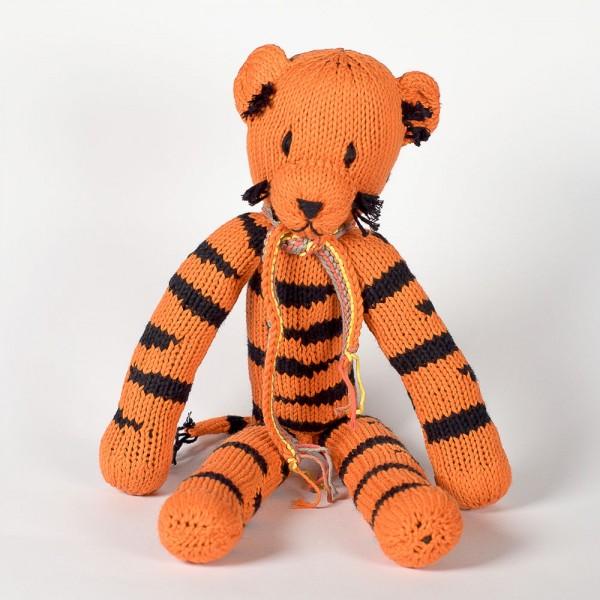 Baumwoll-Tiger Orange & Schwarz